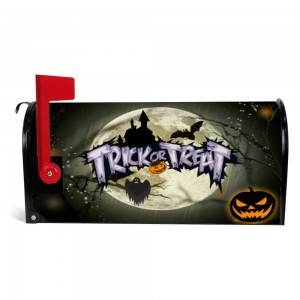 """Pumpkin"" ""Moon"" Halloween Mailbox Cover Sticker , Dark"