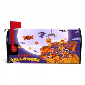 """Candy"" Halloween Mailbox Cover Sticker , Purple"