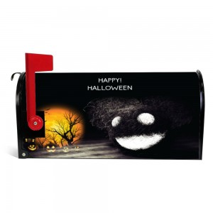 """Pumpkin"" Halloween Mailbox Cover Sticker , Dark"