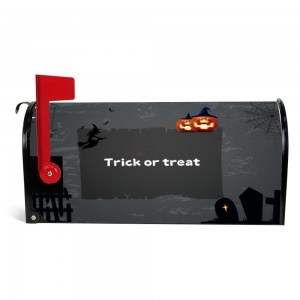 """Pumpkin"" Halloween Mailbox Cover Sticker , Black"