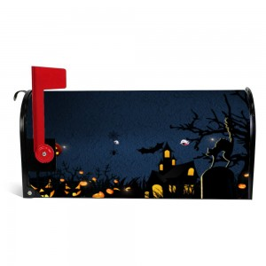 """Pumpkin"" ""Wolves"" Halloween Mailbox Cover Sticker , Dark"