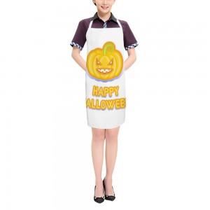 """Halloween Angry Pumpkin"" Adult apron 27.5"" x 31.5"""