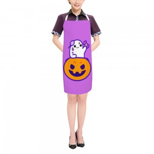 """Halloween Candies Pumpkin"" Adult apron 27.5"" x 31.5"""