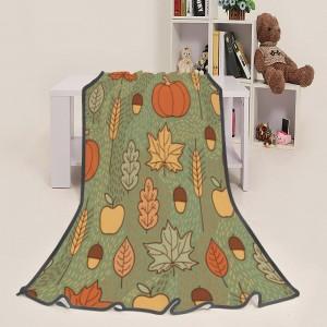 """""""Halloween Leaves Pumpkin"""" Blanket 39""""x50"""""""