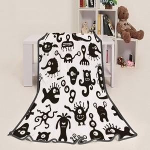 """Halloween Ghosts Woo"" Blanket 39""x50"""