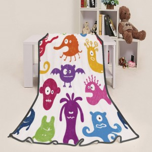 """""""Halloween Colorful Ghosts"""" Blanket 39""""x50"""""""