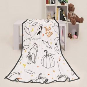 """Halloween Cat Bat"" Blanket 39""x50"""