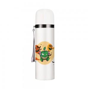 """Halloween balloons"" Customize Vacuum Bottle 12oz, White"