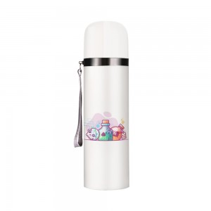 """Halloween Bottles"" Customize Vacuum Bottle 12oz, White"