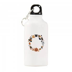 """Halloween Candies Cupcakes"" Sports Water Bottle White Color 13.5oz"