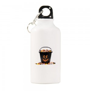 """Halloween Candies treats"" Sports Water Bottle White Color 13.5oz"