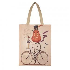 """Bicycle"" ""Pumpkin"" Canvas Tote Bag"