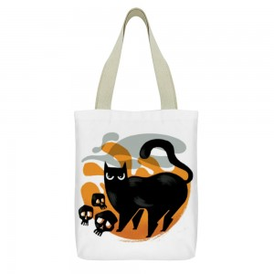 """Cat"" ""Spooky"" Tote Bag  double-sided"