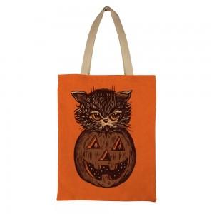 """Creepy"" ""Pumpkin"" Tote Bag  single-sided  13.8""x 17.7"""