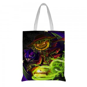 """Creepy"" ""Spooky"" Cotton and linen Tote Bag ,Single-sided,15""X16.5"""