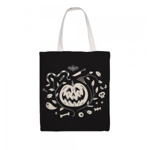 """Creepy"" ""Pumpkin"" Great Martin Canvas Tote Bag,Single-sided"