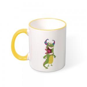 """""""Halloween"""" Color mug  Mouth and Handle 11oz"""