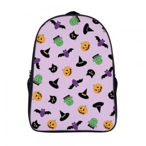 """""""Bat"""" """"Pumpkin"""" Backpack School Bag 11"""" x 15.7"""" x 6.3"""""""