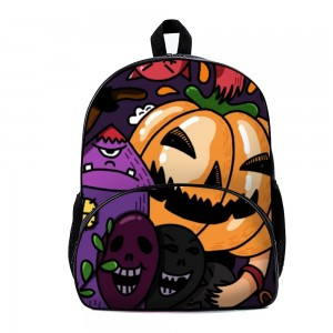 """Pumpkin"" ""Egg"" Backpack School Bag with small front pocket 11.8"" x 15.7"" x 7"""