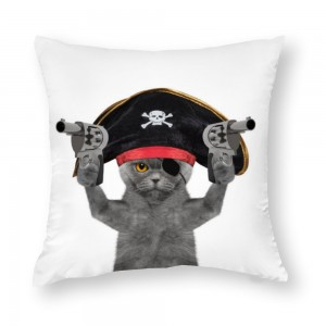 """Cat"" ""Pirate""  Cotton material Decorative  pillowcase"