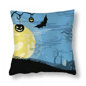 """Bat"" ""moon"" Satin pillowcase"