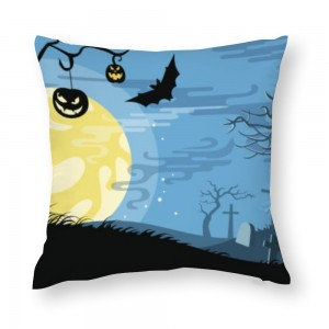 """Bat"" ""moon""  Cotton material Decorative  pillowcase"