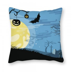 """Bat"" ""moon"" Canvas pillowcase"