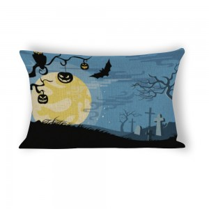 """Bat"" ""moon"" Cotton and linen Decorative single-sided pillowcase 20""x 30"""