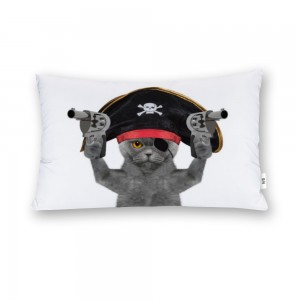 """Cat"" ""Pirate""  Cotton material Decorative Doule-sided pillowcase 20""x 30"""