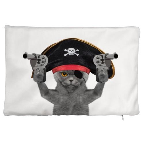 """Cat"" ""Pirate""  Plush fabrics pillowcase"