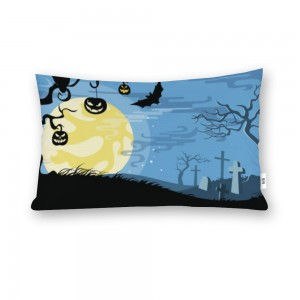 """Bat"" ""moon"" ""blue sky"" Cotton material Decorative Doule-sided pillowcase 20""x 30"""