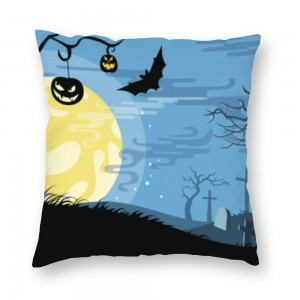 """Bat"" ""moon""  Plush fabrics pillowcase"