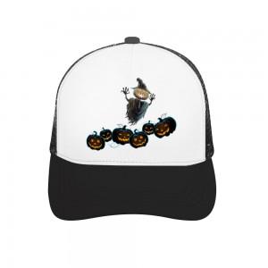 """""""Halloween  scarecrow with pumpkins"""" Adult Trucker Hat"""