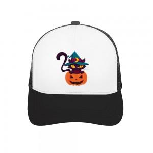 """Halloween Cat with Hat"" Adult Trucker Hat"