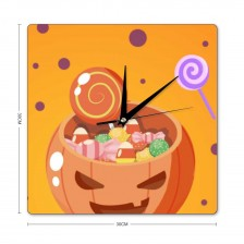"""Cute"" ""Pumpkin""  Style Square wall clock"