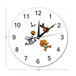 """Cute"" ""skull"" Stylish wall clock Round  9.8"" x 9.8"""