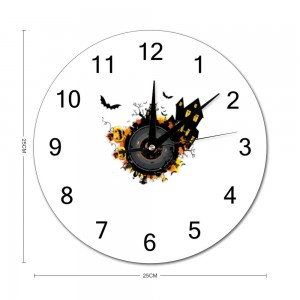 """""""Bat"""" """"Pumpkin""""  Stylish wall clock Round  9.8"""" x 9.8"""""""