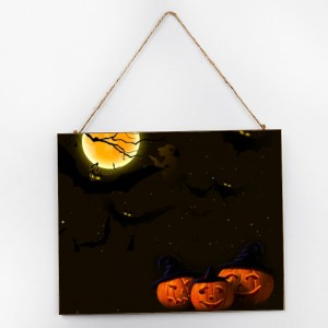 """Halloween"",Customize Wooden Signs  10''x 12"""