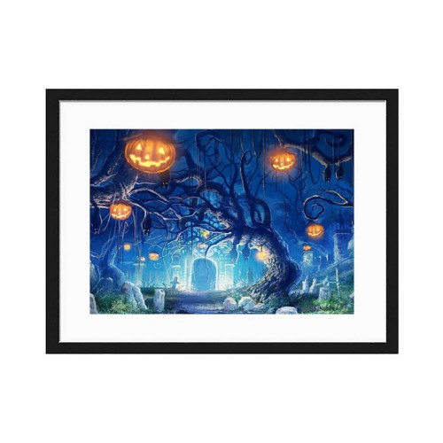 """""""Halloween""""""""customize"""" Horizontal Wooden Wall Art Sign with Frame  5.5''x 8"""""""