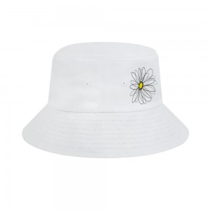 """""""Chamomile"""" Adult Fisherman's Hat, White"""