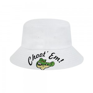 """""""Crocodile"""" Adult Fisherman's Hat, White"""