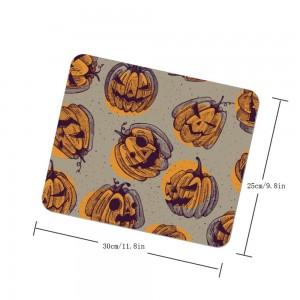 """Halloween Angry Pumpkin"" mouse pad"
