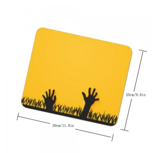 """Halloween Yellow Scary Catch"" mouse pad"