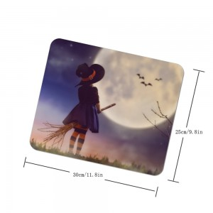 """Halloween Moonlight Girl"" mouse pad"