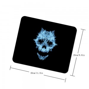 """Halloween Hairy Skull"" mouse pad"