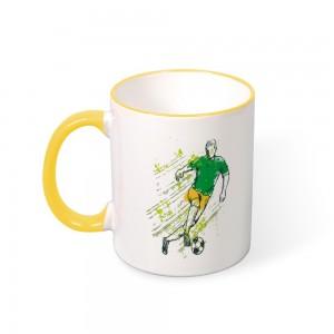 """""""Football"""" Color mug  Mouth and Handle 11oz"""