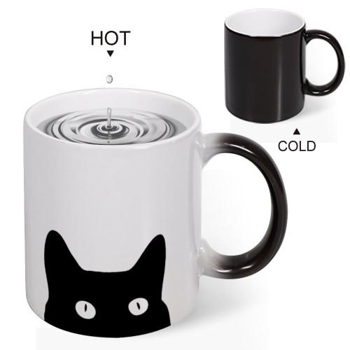 """Customize Magic Color Changing Mug 11oz, """"Cat"""""""