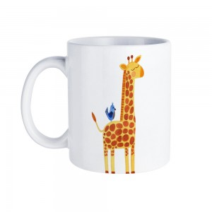 """Giraffe"" White Mug 11oz"