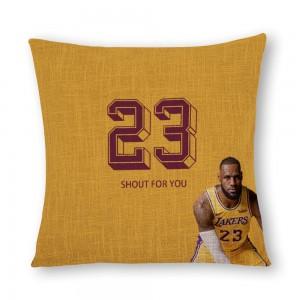 """Basketball"" linen pillowcase"