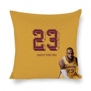 """Basketball"" White linen pillowcase"